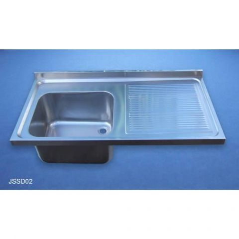 Sink and Drainer - Stainless Steel - Electro-Polished - 304 - JSSD02