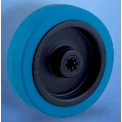 Blue Elastic Rubber Tyre Castor Wheel