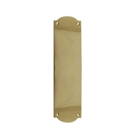 Flat Shaped Finger Plate - Polished Brass - MHDF667