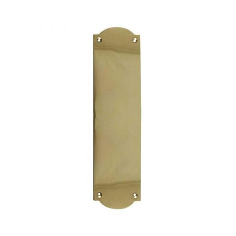 Raised Shaped Finger Plate - Polished Brass - MHDF668