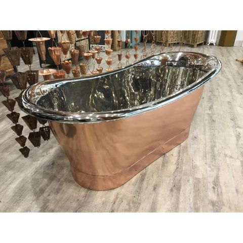 Copper Out and Nickel In Bath - Copper - Polished Copper Outside, Polished Nickel Inside - MHBA023
