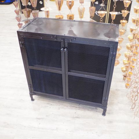 Iron Sideboard Cupboard Unit - Iron - Dark Iron - MHIA-ASR-147