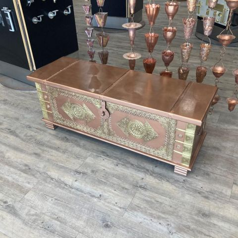 Mango Wood Storage Chest Box or Ottoman
