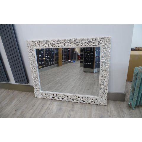 Mango Wood Bedroom Set Mirror Frame - Mango Wood - White Mango Wood - MHIA-SET-MF