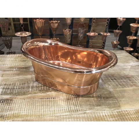 Copper Inside and Outside Sink