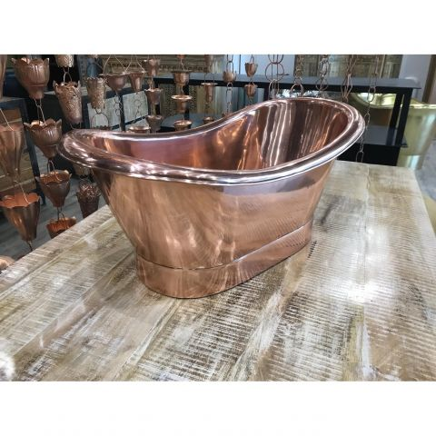 Antique Copper Outside and Inside Baby Bath