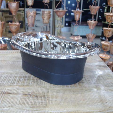 Black EPI Outside, Polished Nickel Inside Sink - Copper - Black EPI Outside, Polished Nickel Inside - MHSNK008