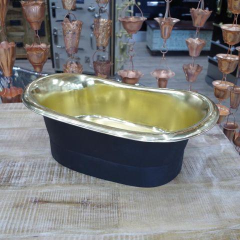 Black EPI Outside, Polished Brass Inside Sink - Brass - Black EPI Outside, Polished Brass Inside - MHSNK011