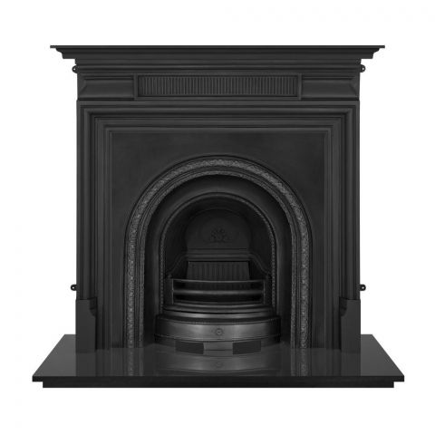 Scotia Cast Iron Fireplace Insert - Cast Iron - Black - MHJI581