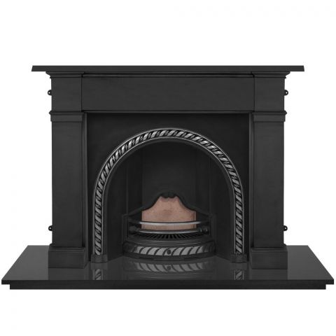 Westminster Cast Iron Fireplace Insert - Cast Iron - Highlight Polish - MHJI583