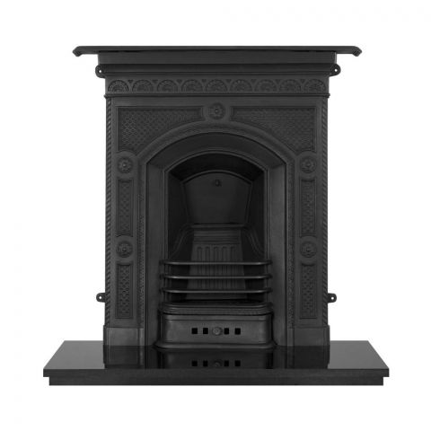 Hawthorne Cast Iron Combination Fireplace - Cast Iron - Black - MHJI656