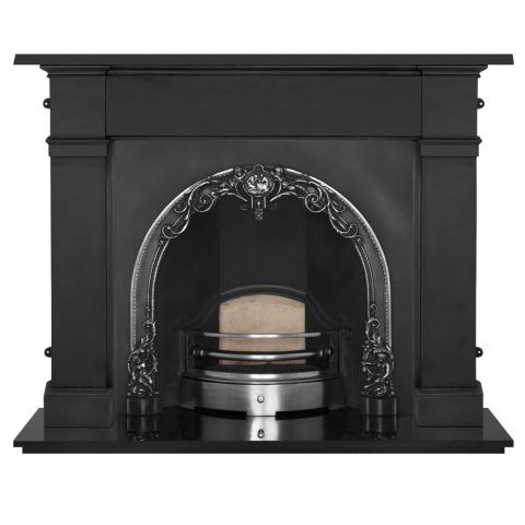 Cherub Cast Iron Fireplace Insert - Cast Iron - Highlight Polish - MHJI561