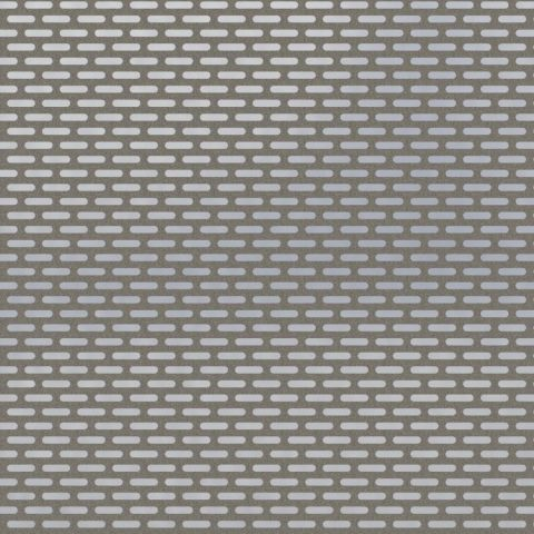 Perforated Sheet - 5mm x 20mm Slotted Hole - Stainless Steel - Natural - 304 - JSTP67