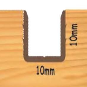 10mm Retaining Profile - To suit Partex and Parflip Parting Bead