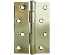 4 Inch Loose Pin Hinge - Steel - Electro Brassed - MHPLP002
