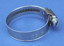 12mm wide Worm Drive Hose Clamp - Stainless Steel - 304 - JS3PB80