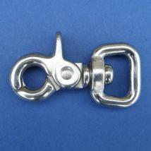 Swivel D Trigger Snap Hook - Stainless Steel - 316 - JSHS23